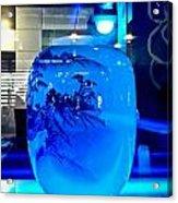 Vase Impression Bluish Acrylic Print