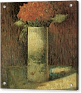 Vase Of Flowers Acrylic Print by Georges Seurat