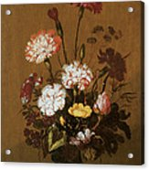 Vase Of Flowers Acrylic Print by Hans Bollongier