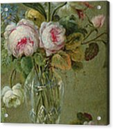 Vase Of Flowers On A Table Acrylic Print