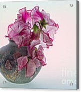 Vase Of Pretty Pink Sweet Peas 2 Acrylic Print