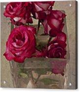 Vase Of Roses Acrylic Print