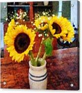 Vase Of Sunflowers Acrylic Print