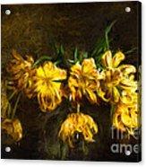 Vase Of Yellow Tulips Acrylic Print