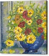 Vase With Yellow Flowers Acrylic Print