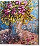 Vased Spring Lilies Acrylic Print