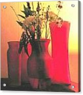 Vases And Flowers 1 Acrylic Print
