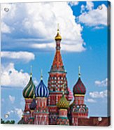 Vasily The Blessed Cathedral And The Red Square Of Moscow - Featured 3 Acrylic Print