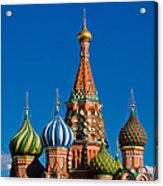 Vasily The Blessed Cathedral On Moscow Red Square - Featured 2 Acrylic Print
