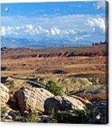 Vast Desert Landscape Acrylic Print