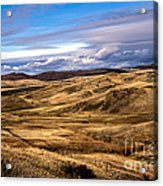 Vast View Of The Rolling Hills Acrylic Print by Robert Bales