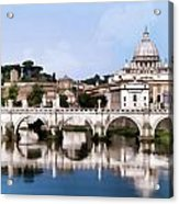 Vatican City Seen From Tiber River Acrylic Print