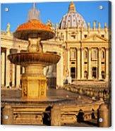 Vatican Morning Acrylic Print