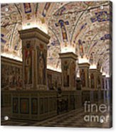Vatican Museum Vaulted Ceiling Artwork Acrylic Print