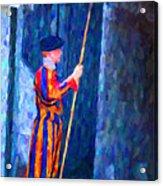 Vatican Swiss Guard Acrylic Print