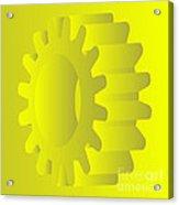 Vector Gears Acrylic Print