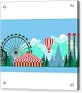 Vector Illustration Poster Amusement Acrylic Print