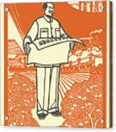 Vector Of Chairman Mao Related Poster Acrylic Print