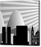 vector Rio de Janeiro skyline Acrylic Print