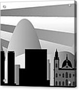 vector Rio skyline with ball Acrylic Print