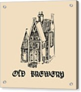 Vector Vintage Old Brewery Logo. Hand Acrylic Print