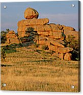 Vedauwoo Rocks Sunset Wyoming Acrylic Print