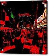 Vegas At Night Acrylic Print