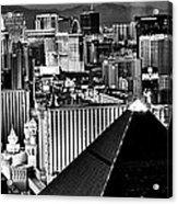 Vegas Black And White Acrylic Print