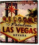 Vegas Destructed Acrylic Print