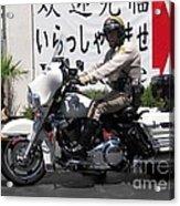 Vegas Motorcycle Cop Acrylic Print