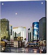 Vegas Night Skyline Acrylic Print