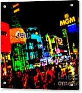 Vegas Lights Acrylic Print