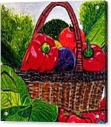 Veges Basket Acrylic Print