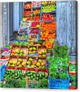 Vegetable And Fruit Stand Acrylic Print