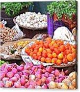 Vegetable Vendor - Omkareshwar India Acrylic Print