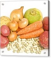 Vegetables And Supplement Pills Acrylic Print