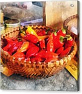Vegetables - Hot Peppers In Farmers Market Acrylic Print