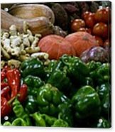 Vegetables In Chinese Market Acrylic Print
