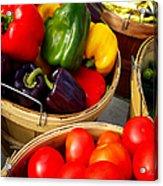 Vegetarian And Organic Farmers Produce Acrylic Print
