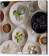 Vegetarian Dishes Acrylic Print