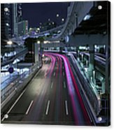 Vehicle Light Trails On National Route 1 Acrylic Print