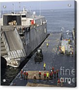 Vehicles Are Transferred Aboard Acrylic Print