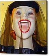 Veiled Laugh Acrylic Print