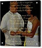 Vein Of Love Poem Acrylic Print