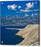 Velebit Mountain From Island Of Pag Acrylic Print
