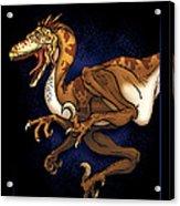 Velociraptor Attack Acrylic Print