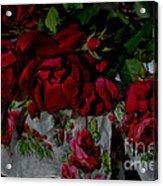 Red Velvet Roses Acrylic Print