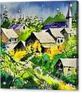Vencimont Watercolor  Acrylic Print