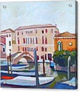 Venetian Cityscape Acrylic Print by Filip Mihail