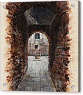 Venetian Courtyard 01 Elena Yakubovich Acrylic Print